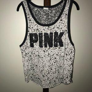 Victoria Secret PINK sequin tank top size Large